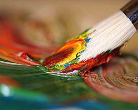 La peinture... pinceau